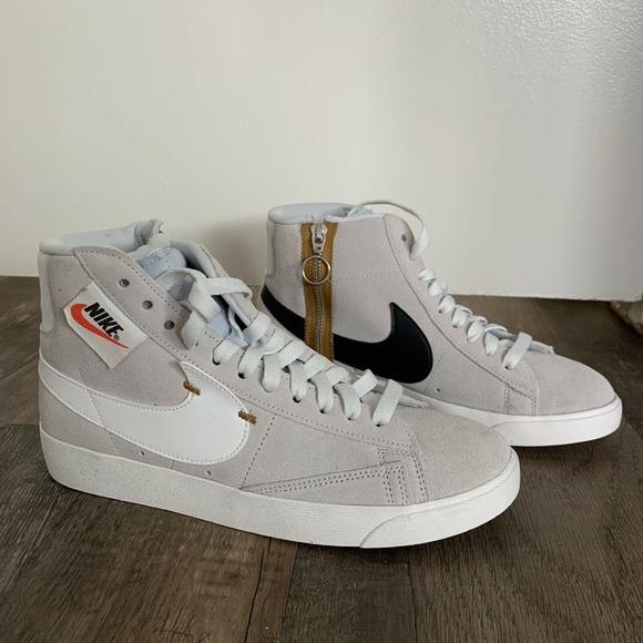 Nike Blazer Mid Side Zip Sneakers Size